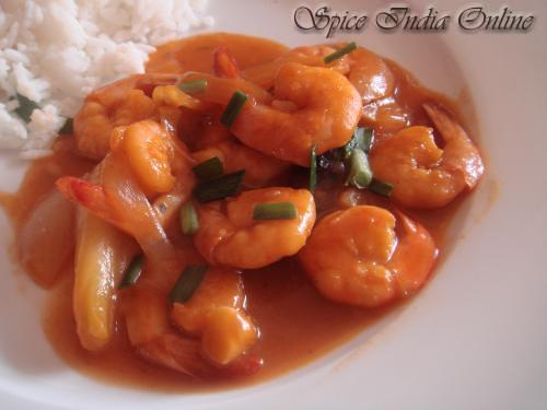 Prawns in spicy garlic sauce