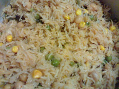 Chick pea mint rice