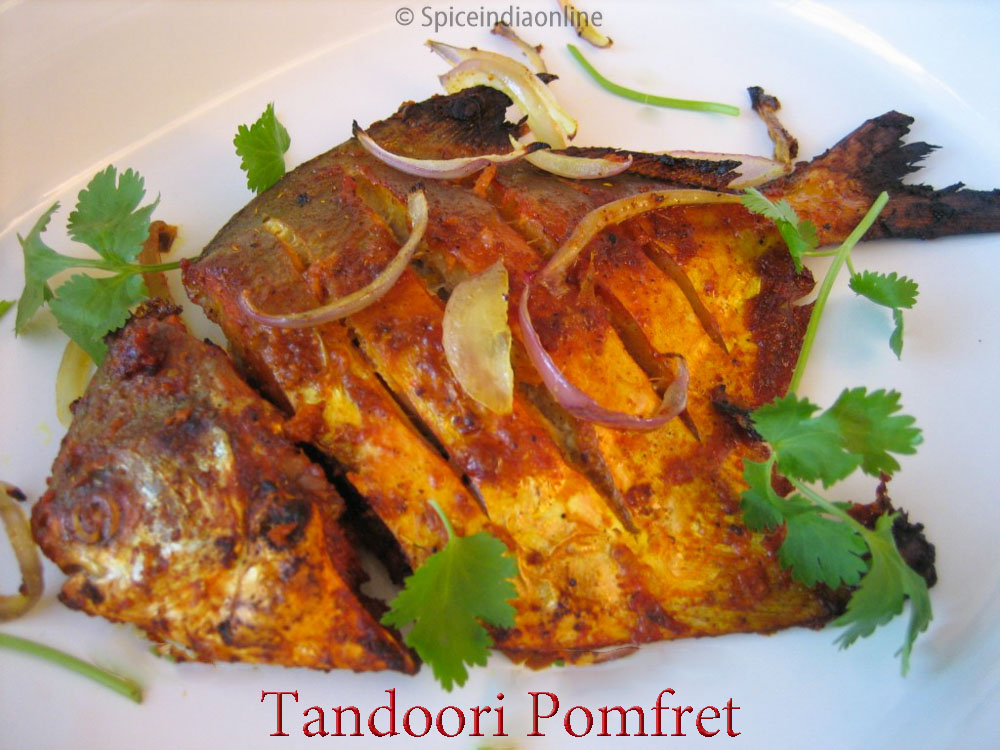 Baked pomfret archives spiceindiaonline tandoori pomfret recipe baked silver pomfret vavval meen forumfinder Image collections