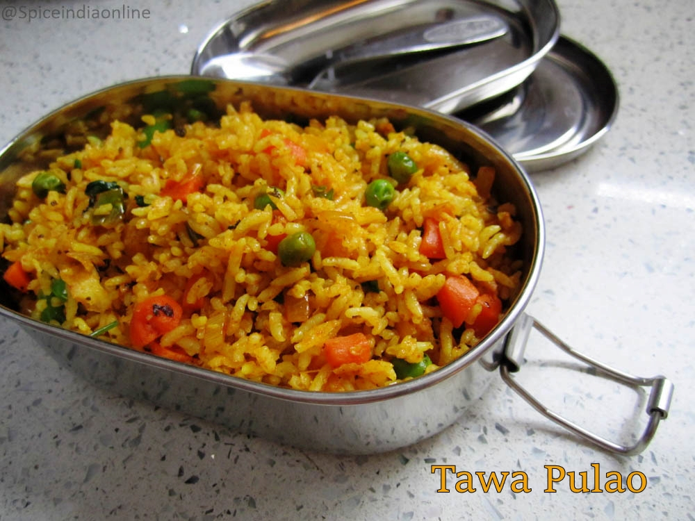 Tawa pulao recipe lunch box recipes spiceindiaonline tawa pulao recipe lunch box recipes forumfinder Images