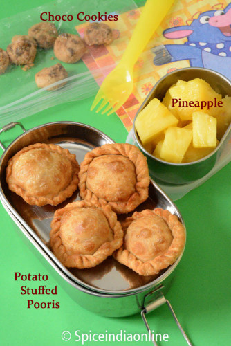 Kids School Lunch Box 11 Potato Stuffed Pooris