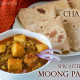 Lunch dinner Menu 15 Chapati with Sprouted Moong Paneer