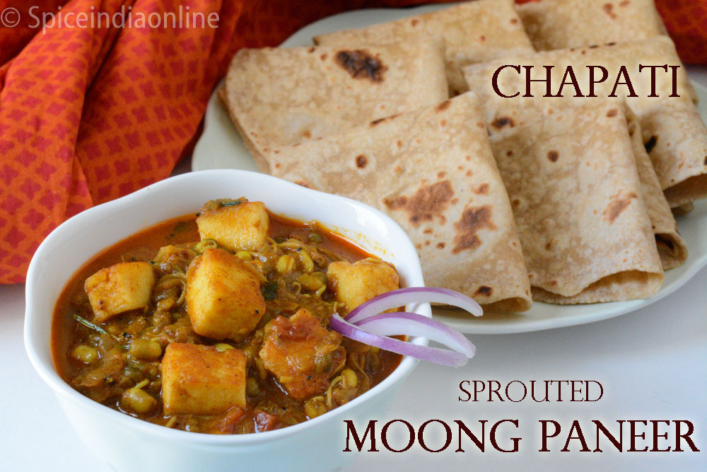 Lunch dinner menu 15 chapati with sprouted moong paneer north lunch dinner menu 15 chapati with sprouted moong paneer north indian vegetarian recipes forumfinder