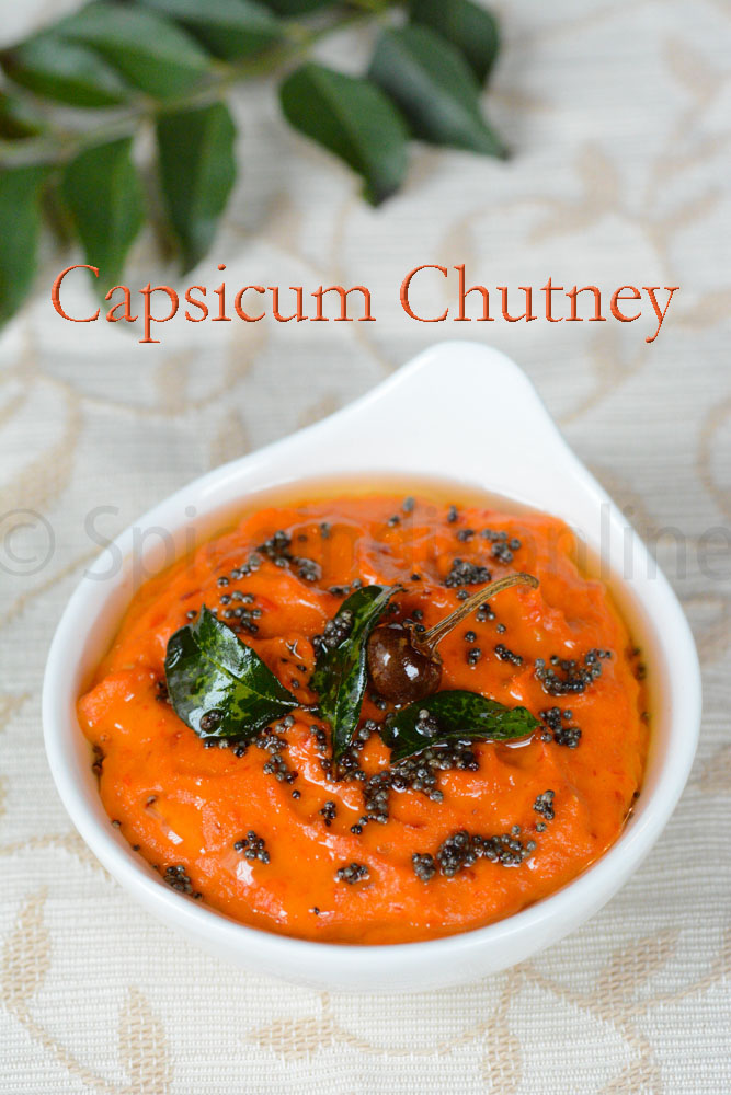 CAPSICUM CHUTNEY- RED BELL PEPPER CHUTNEY