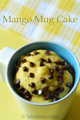 Eggless Mango Mug Cake Recipe Microwave Recipes