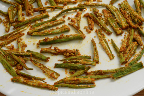 Microwave Okra Chips