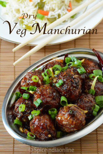 Vegetable Manchurian Dry