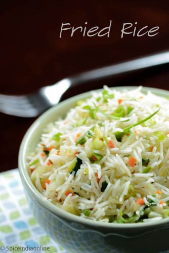 Easy Fried Rice Recipe Indian Style Spicy Indian Style Fried Rice Spiceindiaonline