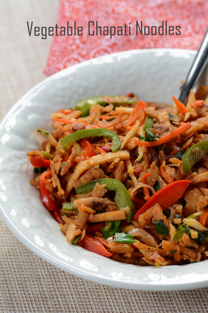 Vegetable Chapati Noodles
