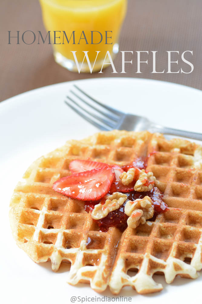 Homemade Waffle Recipe Breakfast Recipes