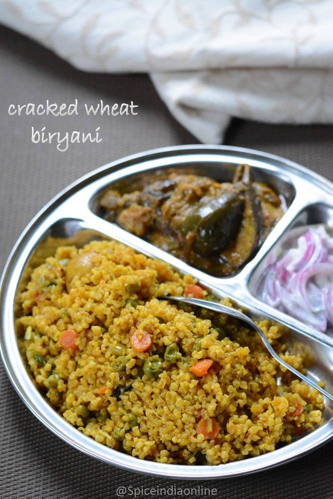 Cracked wheat biryani