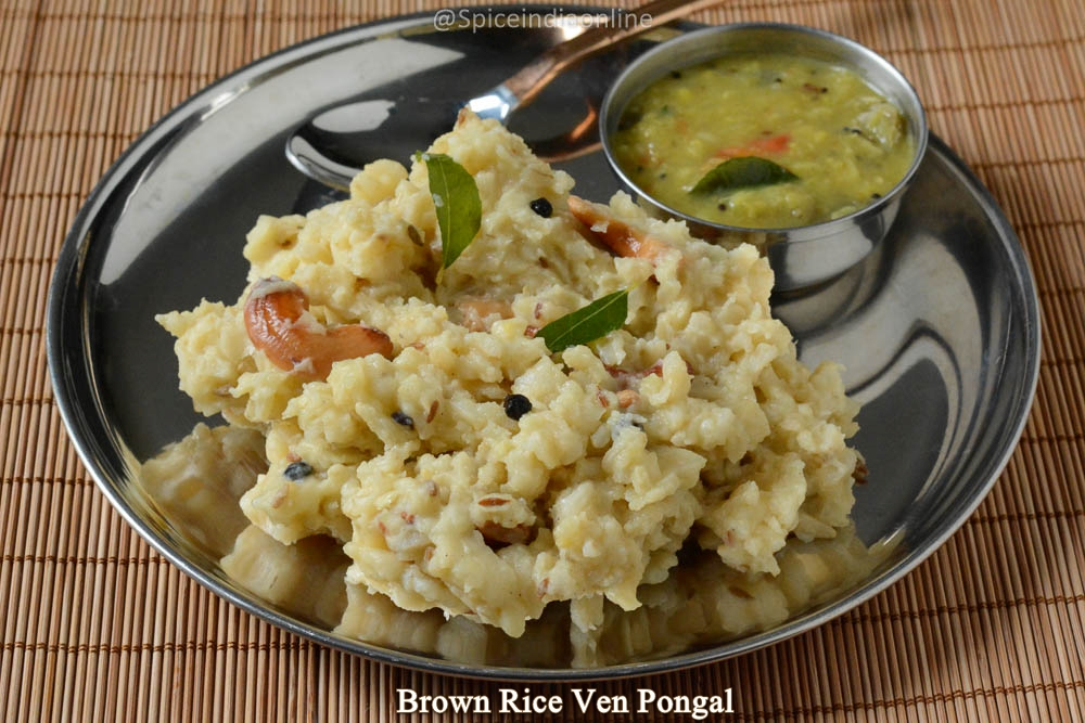 Brown Rice Ven Pongal