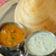 Breakfast Ideas - Ghee Roast wtih sambar & chutney