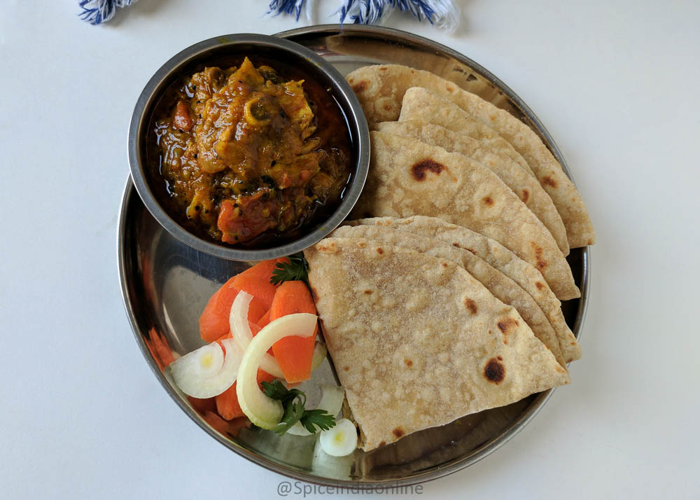 Lunch Dinner Menu 16 Chapati, Chicken curry & Salad