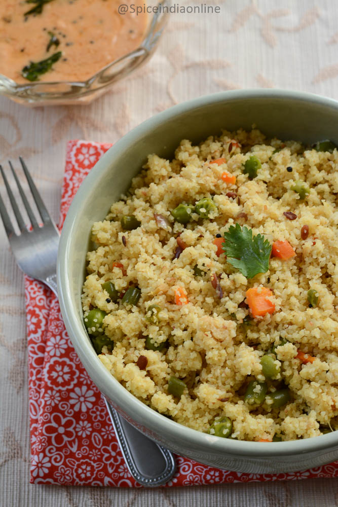 Mixed Vegetable Cracked Wheat Upma