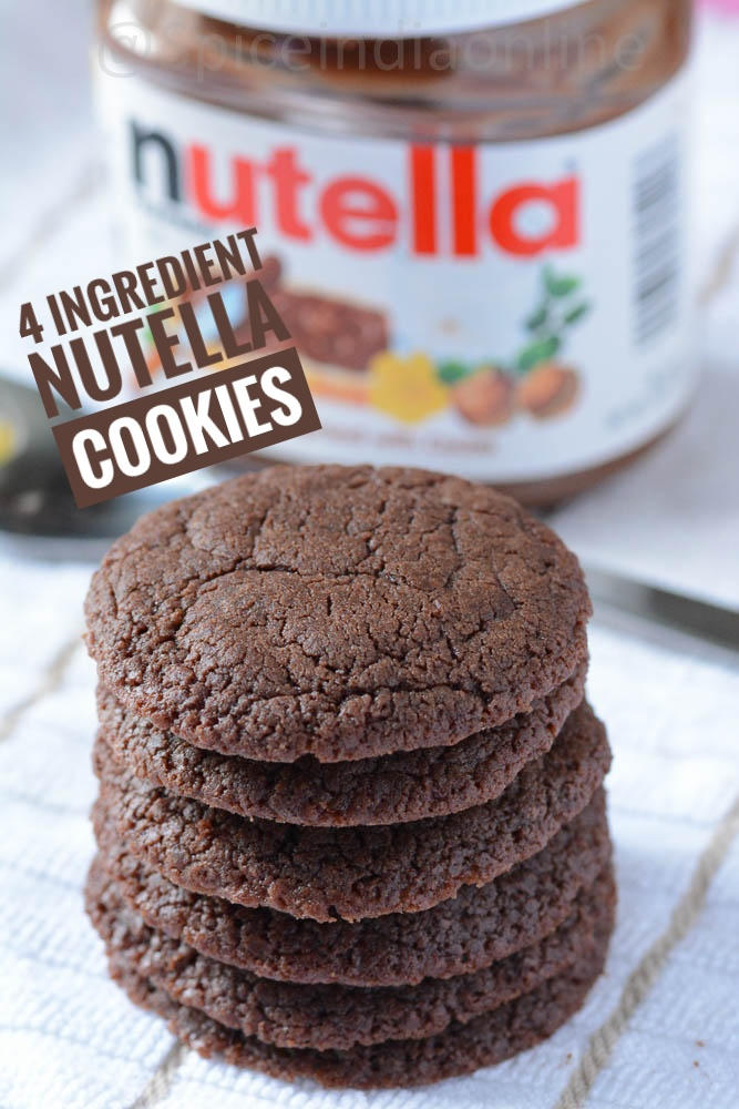 Easy 4- ingredient nutella cookies