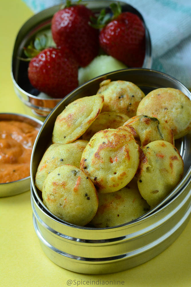 Kids school lunch box 16 carrot paniyaram with tomato onion kids school lunch box 16 carrot paniyaram with tomato onion chutney forumfinder