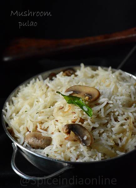 Mushroom, Pulao, Biryani, Rice