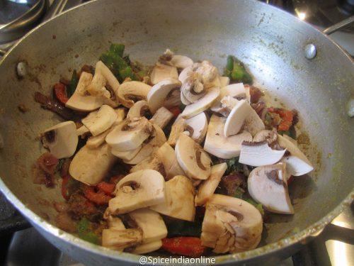 Mushroom Capsicum Pepper Fry