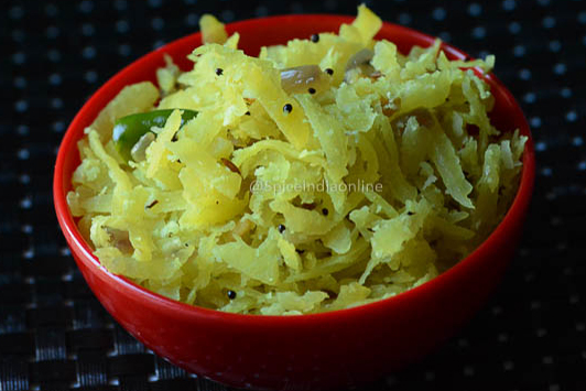 Raw Papaya Poriyal