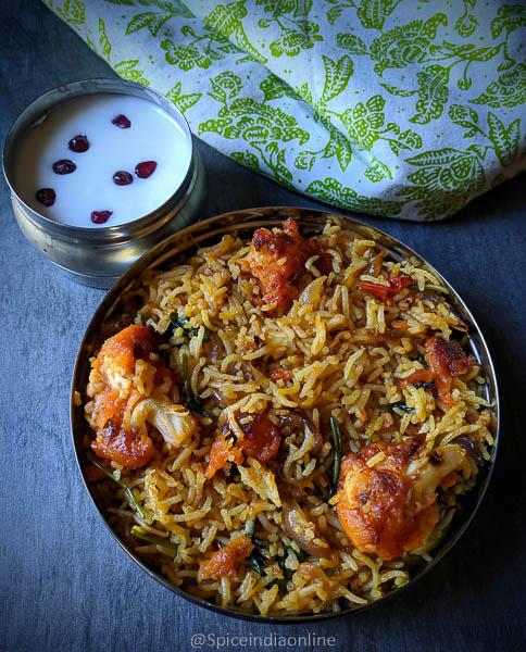 Tandoori Cauliflower Biryani