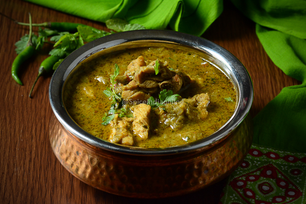 Andhra Green Chili Chicken Curry