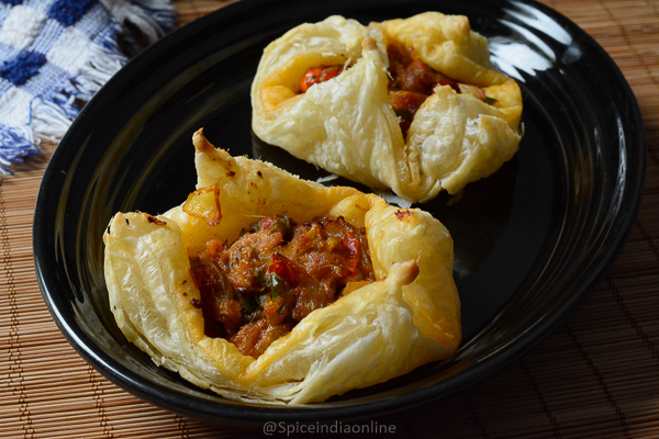 Paneer Puff Pastry
