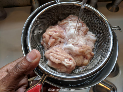 Goat Brain Pepper Fry