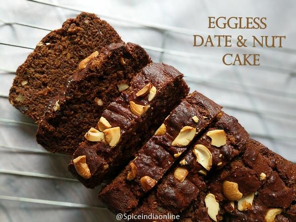 Eggless Date & Nut Cake