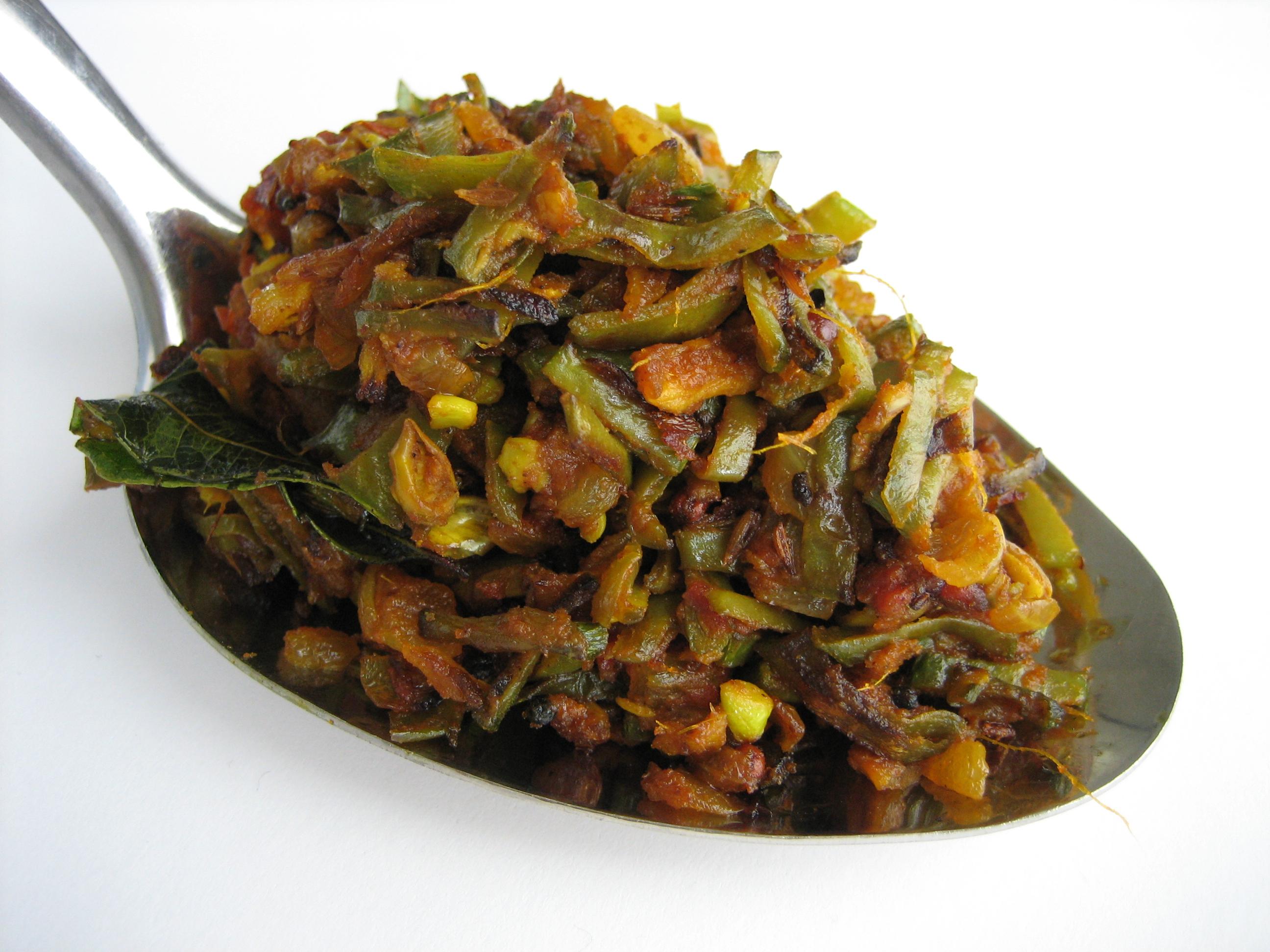 Chikkudukaya Kura Indian Broad Beans Fry Andhra Style