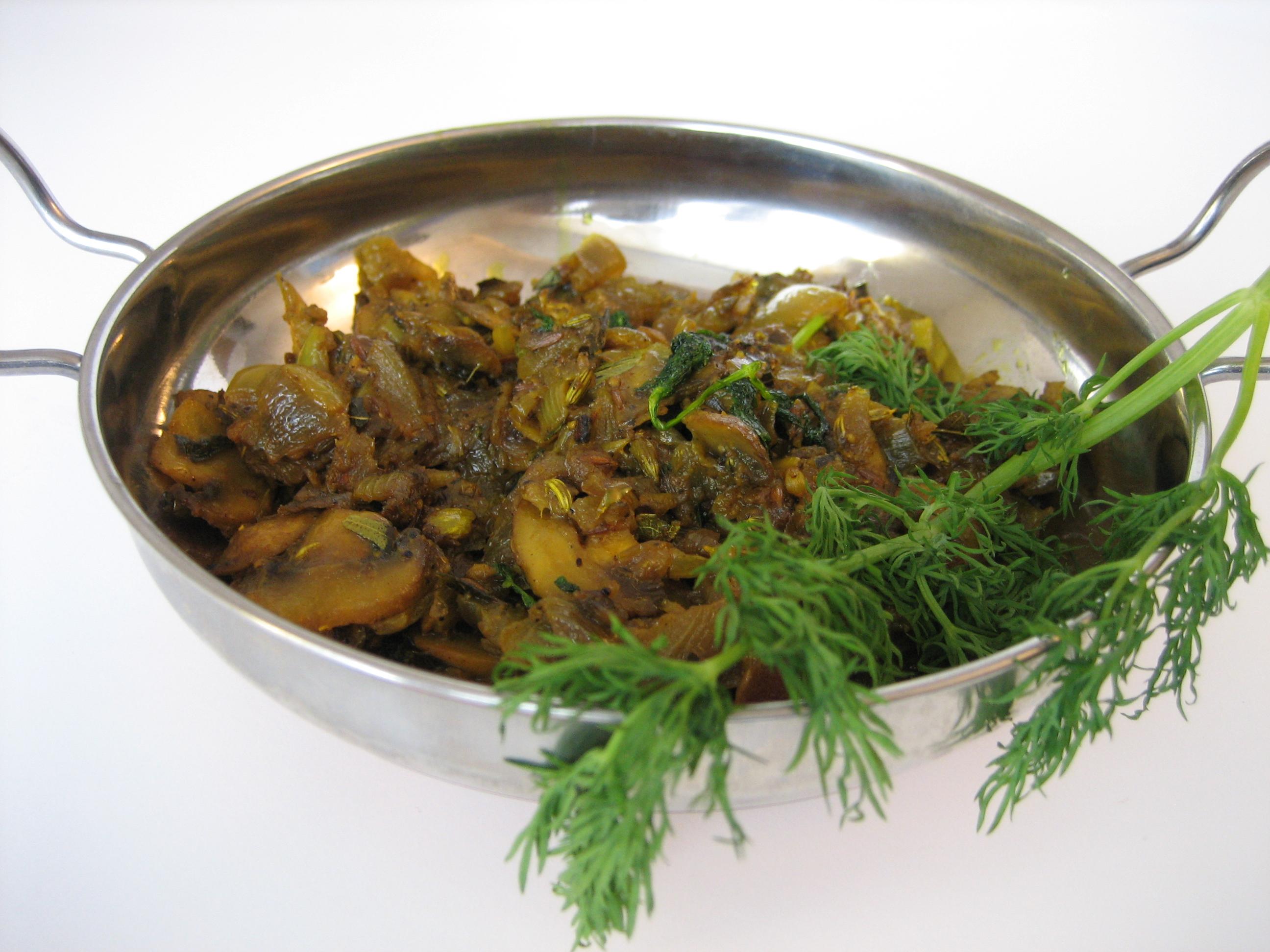 Dill-Mushroom-Masala