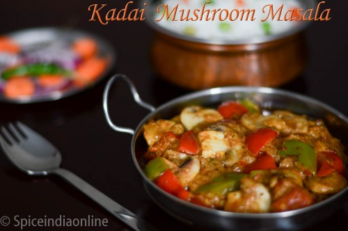 Kadai Mushroom Masala8