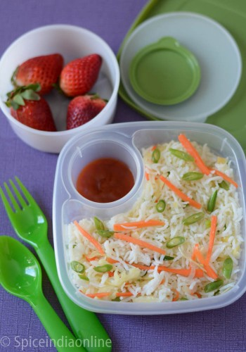 Kids School Lunch Box 3 – Vegetable Fried Rice