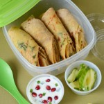 Kids School Lunch Box 4 Aloo Paratha with Pomegranate Raita