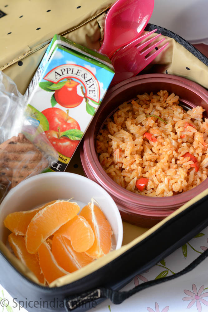 Kids School Lunch Box 5 Spanish Rice 2