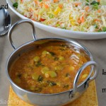 Lunch / Dinner Menu 8 –Veg Fried Rice with Lima Beans Masala
