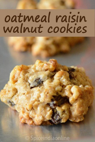 Oatmeal Raisin Walnut Cookies Spiceindiaonline