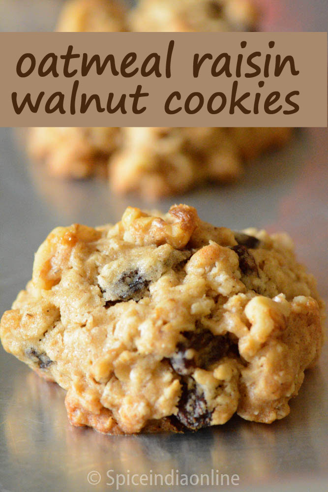 Oatmeal Raisin Walnut Cookies 1