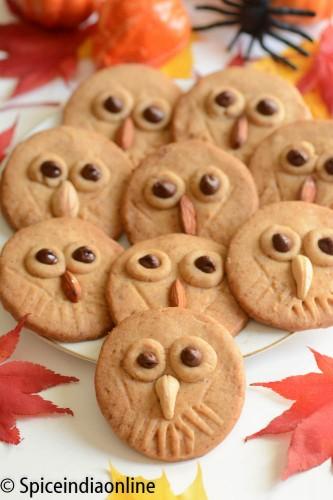 Owl Shortbread Cookies