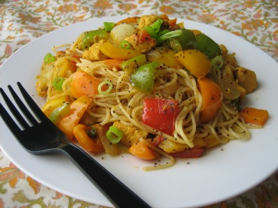 Pepper Chicken Pasta Toss