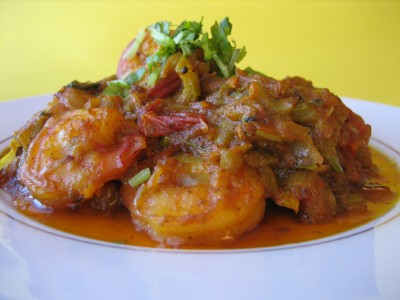 Ridge Gourd Shrimp Curry