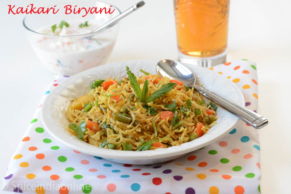 kaikari Biryani - Chettinad Vegetable Biryani  15