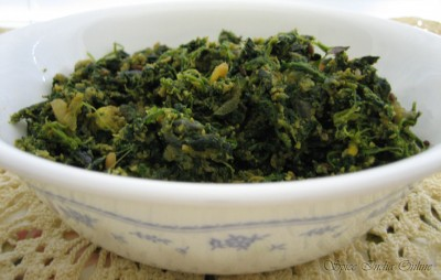 Spinach Egg poriyal